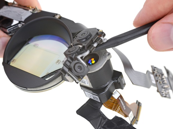 iFixit's teardown reveals a portion of the unique display technology inside Magic Leap One.