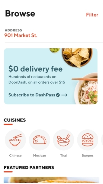 DoorDash launches $10 monthly subscription for free