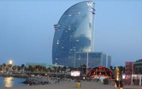 The W Hotel in Barcelona.