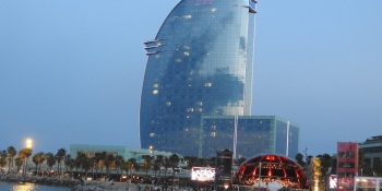 The W Hotel in Barcelona.