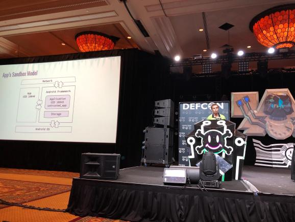 Check Point researcher talks about man-in-the-disk attack.