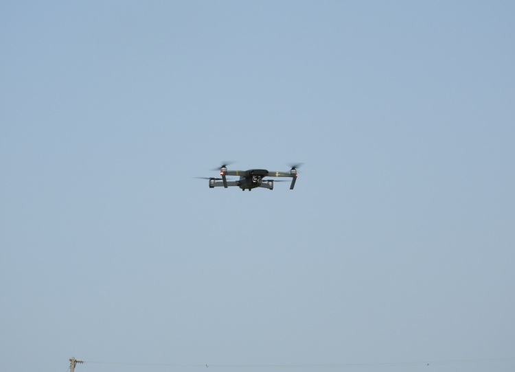 A DJI drone piloted by Dean Takahashi