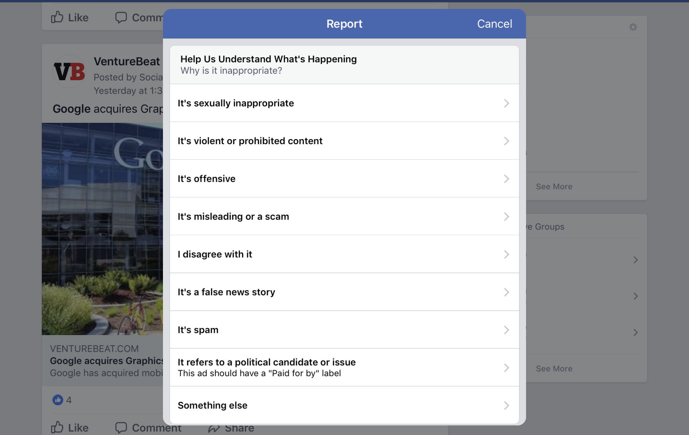 Facebook's Fake News, Spam, and Porn Filters are Dangerously Inept