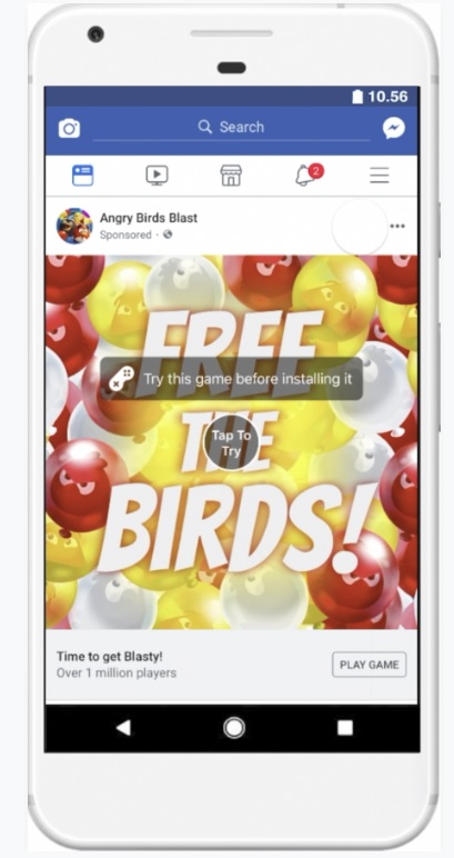 Facebook finally launches playable ads, improves game