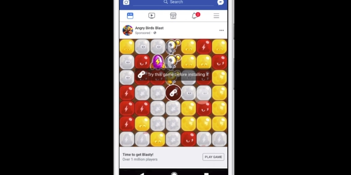 Facebook's playable ads.