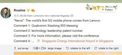 Lenovo promises world's first 5G phone, using Qualcomm