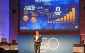 Intel executive vice president Navin Shenoy at Intel's Data Centric Innovation Summit.
