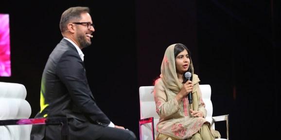 Pluralsight CEO Aaron Skonnard and Pakistani activist Malala Yousafzai