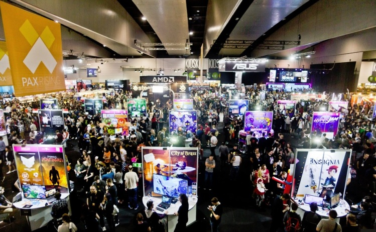 2017 crowd at Melbourne International Games Week and PAX Aus.