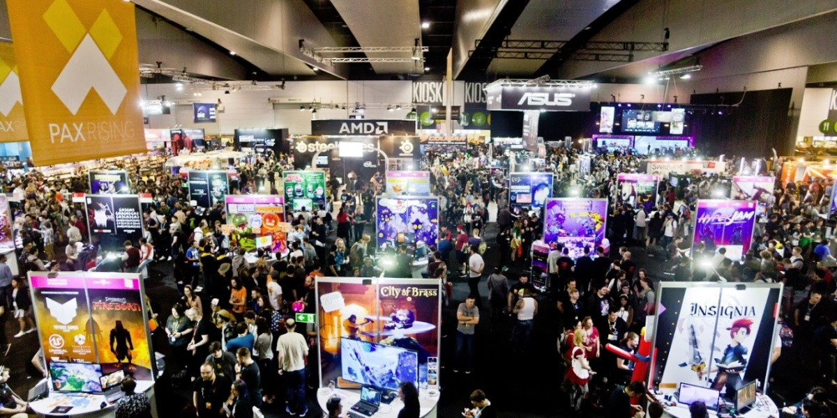2017 crowd at Melbourne International Games Week and PAX Aus.
