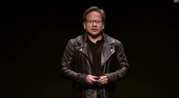 Jensen Huang, CEO of Nvidia, at Gamescom 2018.
