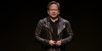 Jensen Huang, CEO of Nvidia, at Gamescom 2018.
