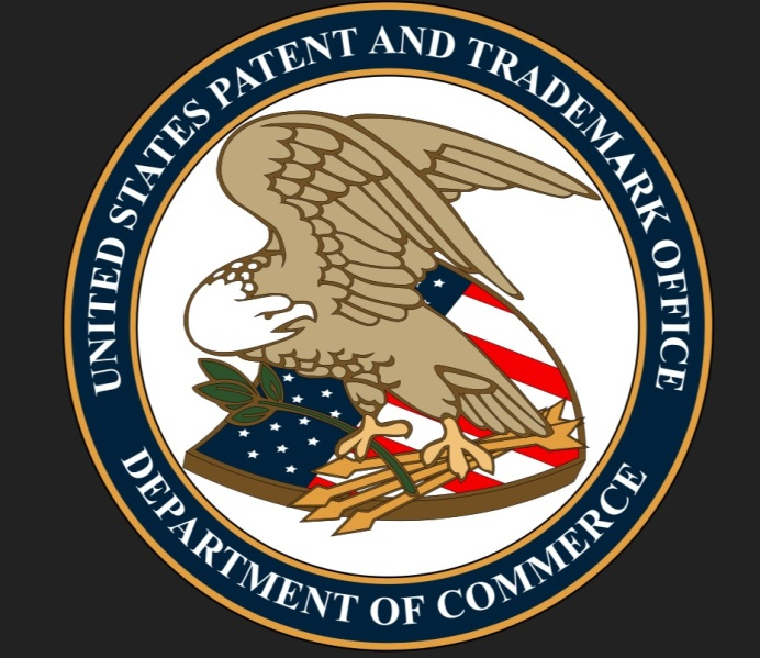 The seal of the U.S. Patent and Trademark Office.