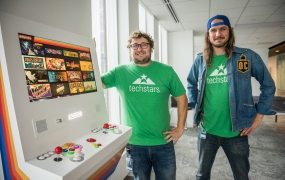 Jake Galler, cofounder of Polycade and Tyler Bushnell, CEO and cofounder.
