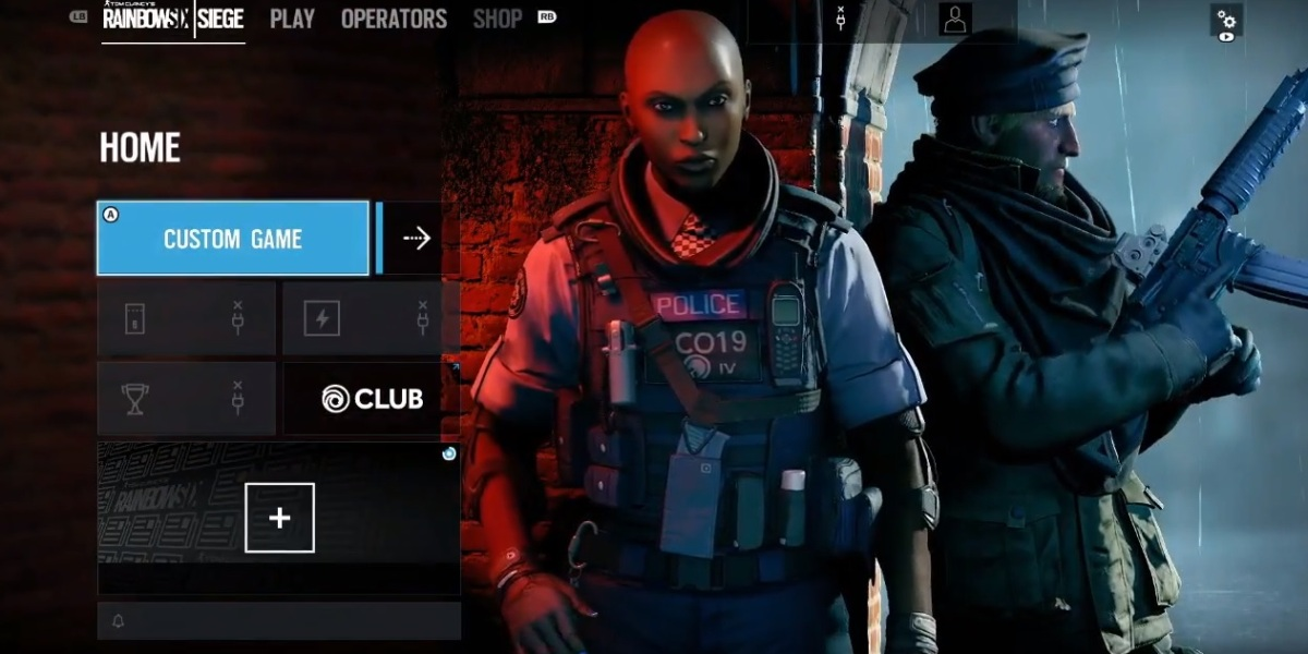 The new Grim Sky operators in Rainbow Six Siege are Clash (left) and Maverick.