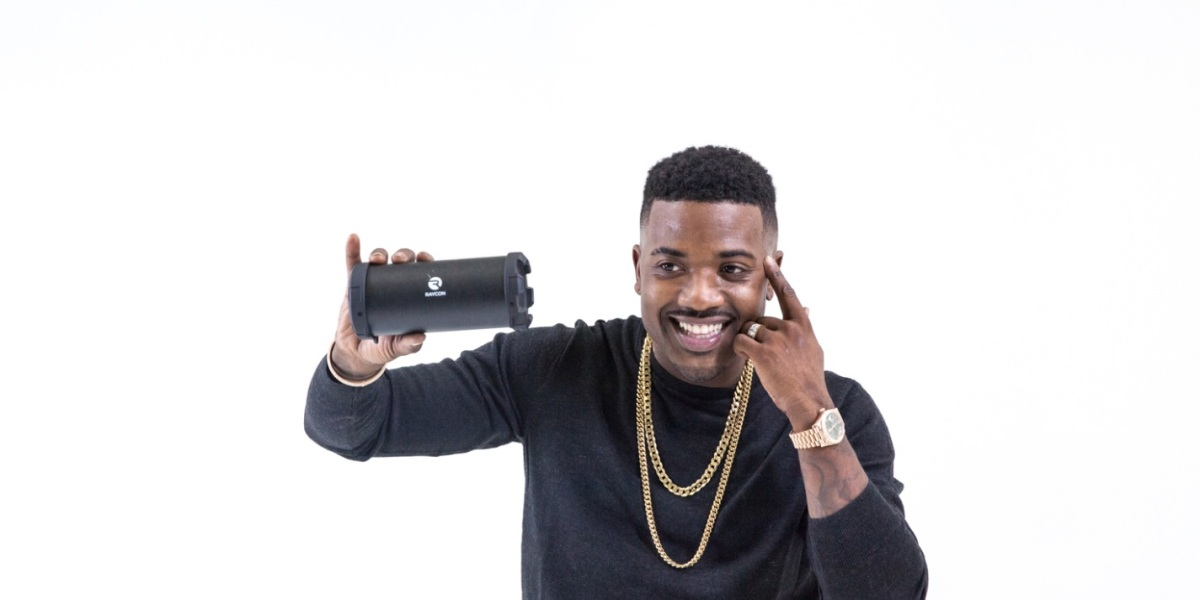 Ray J shows off one of his newest products.