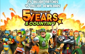 At five years, Respawnables hits 45 million downloads and 2.5 billion matches.