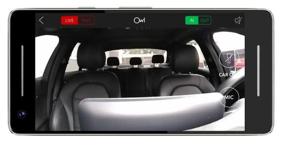 Owl Cam: Live view inside car