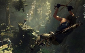 Lara Croft has to swim and fight underwater in Shadow of the Tomb Raider.