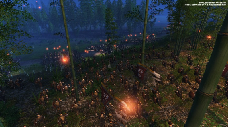 Night combat in Total War: Three Kingdoms.