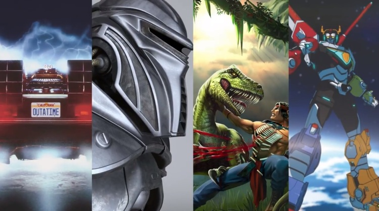 Universal's latest potential game franchises: Back to the Future, Battlestar Galactica, Turok, and Voltron.