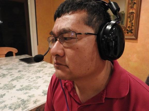 Dean Takahashi looks like an esports hero with Victrix on his head.
