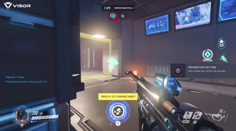 Visor analyzes your Overwatch game in real time for