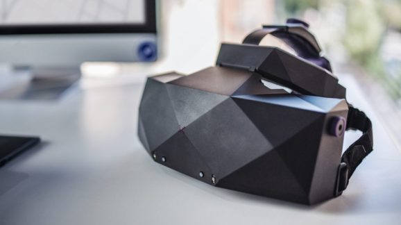 The VRgineers XTAL VR headset for enterprise. It has a 5K display.