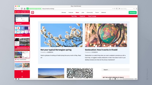Vivaldi desktop browser version 2.0