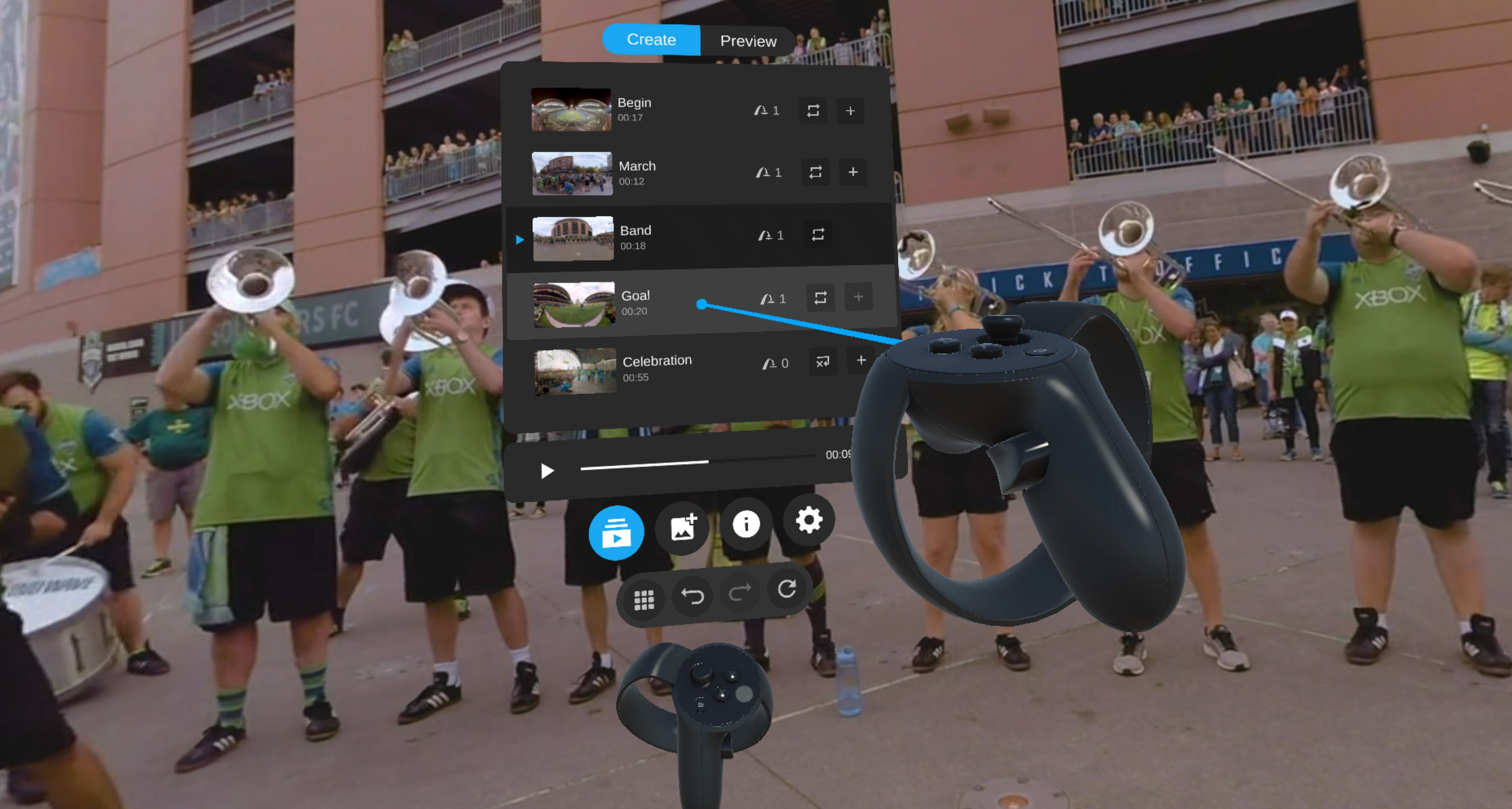 Spin Studio Adds In-headset VR Editing to Cloud-based Creation Platform