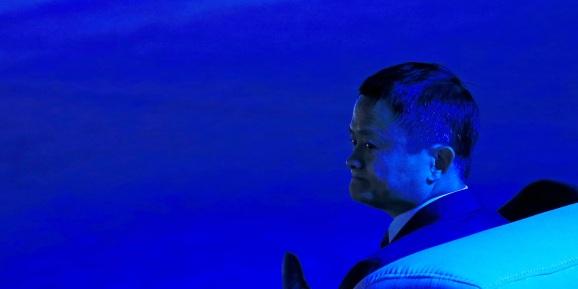 Alibaba Group co-founder and executive chairman Jack Ma at the WAIC (World Artificial Intelligence Conference).
