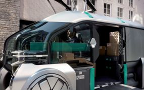 EZ-Go is Renault's autonomous delivery concept featuring shared customizable robo-pods.
