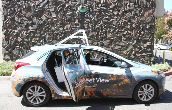 Google Street View vehicle with Aclima sensors