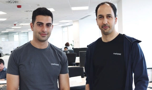 Sherbit CEO Alex Senemar (left) with Medopad CEO Dan Vahdat