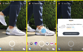A rendering of how Snapchat's visual search will work.