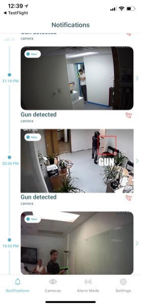 Athena security app picture