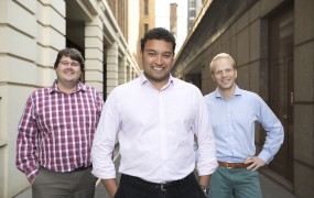 Funding Circle cofounders (l to r): Andrew Mullinger, Samir Desai & James Meekings