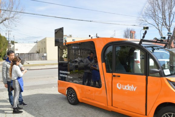 photo image Autonomous vehicle startup Udelv inks grocery delivery deal in Oklahoma City
