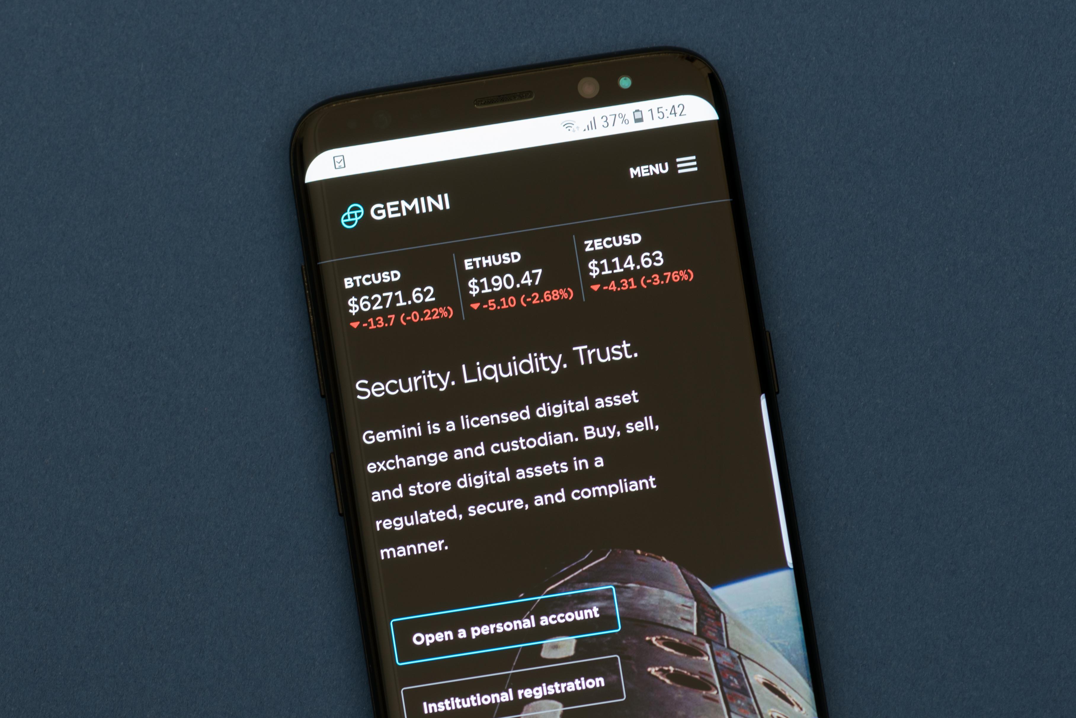cryptocurrency prices gemini