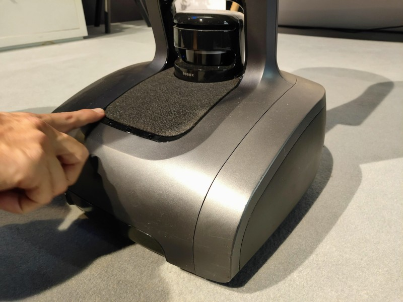 Temi is a telepresence robot with Harman Kardon speakers and an AI