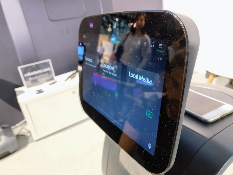 Temi is a telepresence robot with Harman Kardon speakers and an AI voice assistant