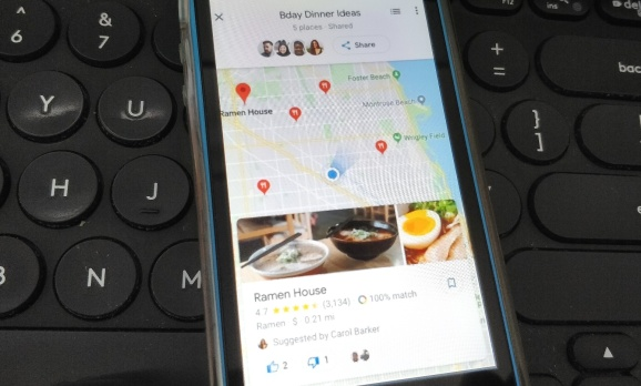 Google Maps' group planning tools arrive on mobile