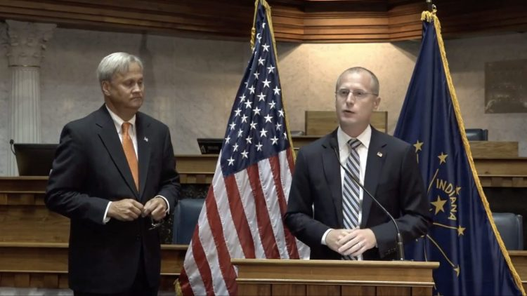 Indiana State Senator Jim Merritt and FCC Commissioner Brendan Carr discuss 5G deployment in Indianapolis, Indiana.