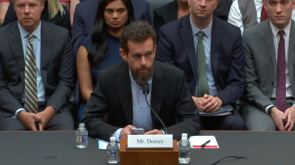 Twitter CEO Jack Dorsey testifies in front of the House Energy and Commerce Committee.
