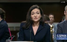 Facebook COO Sheryl Sandberg testifies in front of the Senate Intelligence Committee