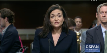Facebook COO Sheryl Sandberg testifies in front of the Senate Intelligence Committee