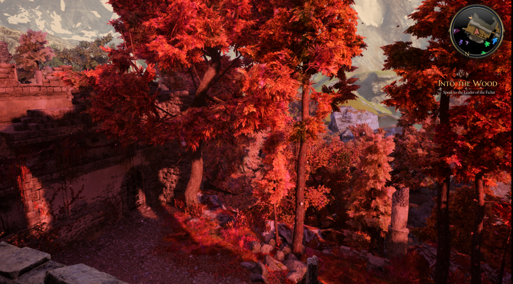 The autumn leaves are just one taste of the color that livens up The Bard's Tale IV: Barrows Deep.