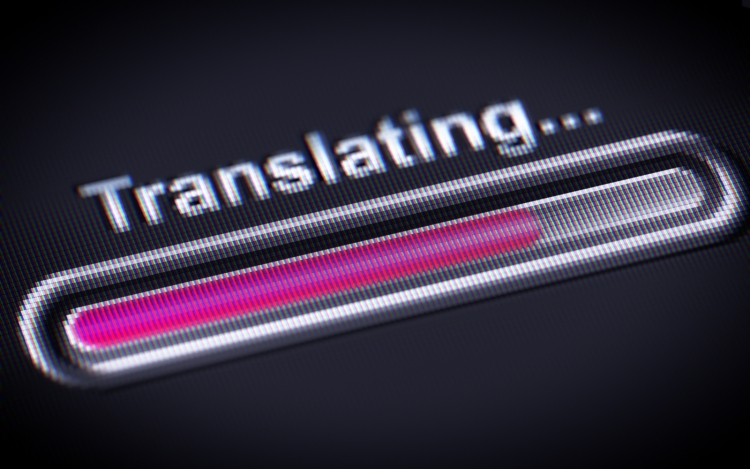 Process of translating on the screen.