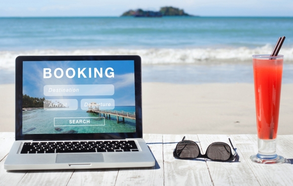Travel booking concept picture