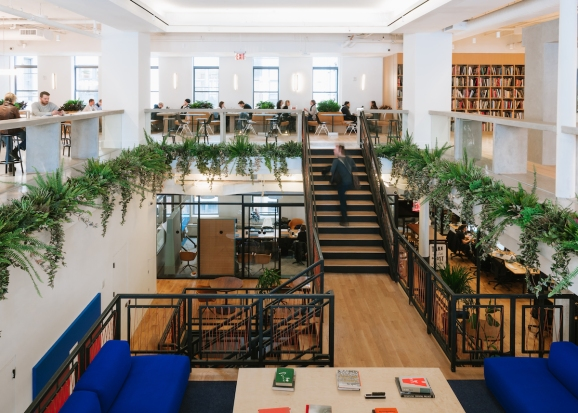 WeWork's New York City headquarters.